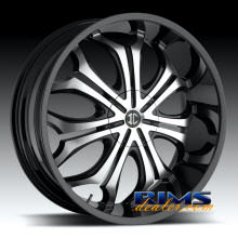 2Crave Rims - No.8 - machined w/ black