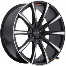 GIANELLE WHEELS - CUBA-10 - machined w/ black