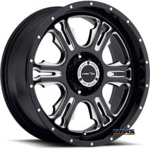 Vision Wheel - Rage 397 - black flat w/ machined
