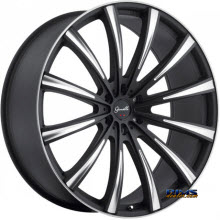 GIANELLE WHEELS - CUBA-12  - machined w/ black