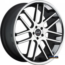 GIANELLE WHEELS - YEREVAN - machined black w/ chrome lip