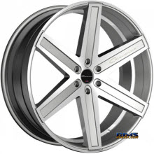 Giovanna Wheels - DRAMUNO-6 - machined w/ silver
