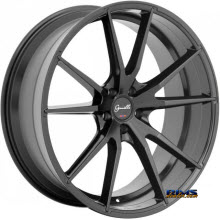 GIANELLE WHEELS - DAVALU - black flat