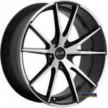 GIANELLE WHEELS - DAVALU - machined w/ black