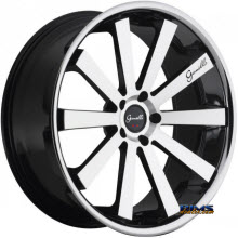 GIANELLE WHEELS - SANTO-2SS - machined black w/ chrome lip