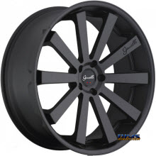 GIANELLE WHEELS - SANTO-2SS - black flat