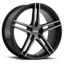 KMC - KM703 (Dark Titanium) - Black Flat w/ Machined