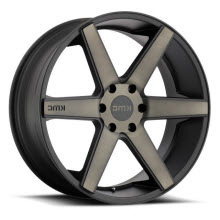KMC - KM704 (Dark Tinted) - Black Flat w/ Machined