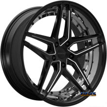 ROSSO WHEELS - REACTIV (MILLED) - black gloss
