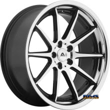Adventus Wheels - AVS-4 - Black Gloss w/ Machined