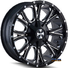 Cali Off-road - AMERICANA 9101 - Black Flat w/ Machined