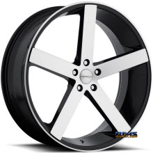 CAVALLO WHEELS - CLV-5 - machined w/ black