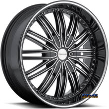 CAVALLO WHEELS - CLV-7 - machined w/ black