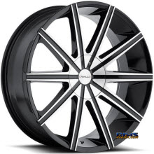 CAVALLO WHEELS - CLV-9 - machined w/ black