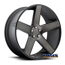 Dub - S116 - Baller - black flat w/ machined