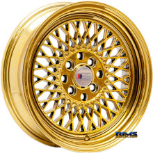 F1R Wheels - F01 - Chome Gold - Gold Flat