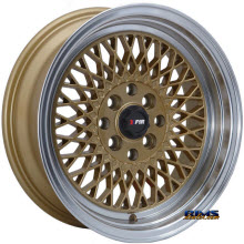 F1R Wheels - F01 - Machined w/ Gold