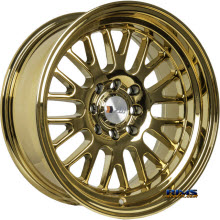F1R Wheels - F04 - Chrome Gold - Gold Flat