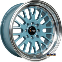 F1R Wheels - F04 - Polished w/ Blue