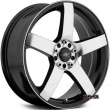 ICW Racing - 216 - MACH 5 - black gloss w/ machined