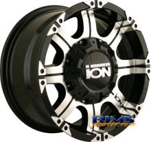 Ion Alloy Wheels - 187 off-road - machined w/ black