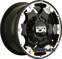 Ion Alloy Wheels - 194 off-road - machined w/ black