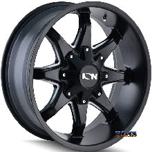Ion Alloy Wheels - STYLE 181 off-road - black flat w/ machined