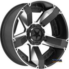 KMC XD Off-Road - XD811 Rockstar II - Machined w/ Black