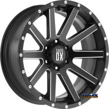 KMC XD Off-Road - XD818 Heist - MIlled - Satin Black