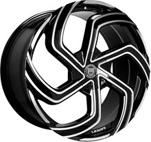 LEXANI - 672 - SWIFT-6 lug only - Black Gloss w/ Machined