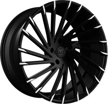 LEXANI - 663 - WRAITH / 6-LUG w/ Cap - Black Gloss w/ Machined