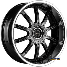 FK ETHOS WHEELS - LX-10 - black flat