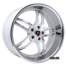 MERCELI WHEELS - M16 - Chrome Lip - Machined w/ White