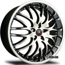 MERCELI WHEELS - M11 - Chrome Lip - machined w/ black