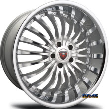 MERCELI WHEELS - M20 - Chrome Lip - machined w/ silver