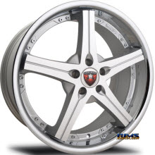 MERCELI WHEELS - M41 - Chrome Lip - machined w/ silver