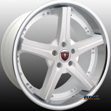 MERCELI WHEELS - M41 - Chrome Lip - machined w/ white