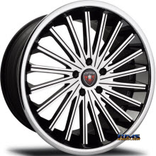MERCELI WHEELS - M46 - Chrome Lip - machined w/ black