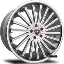 MERCELI WHEELS - M46 - Chrome Lip - machined w/ silver