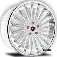 MERCELI WHEELS - M46 - Chrome Lip - machined w/ white