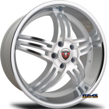 MERCELI WHEELS - M4 - Chrome Lip - machined w/ silver