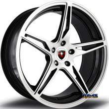 MERCELI WHEELS - M53 - Chrome Lip - machined w/ black