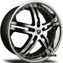 MERCELI WHEELS - M6 - Chrome Lip - machined w/ black