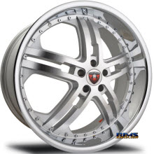 MERCELI WHEELS - M6 - Chrome Lip - machined w/ silver