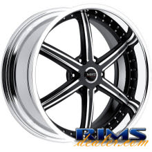 MHT Forged - STILLETO (6-LUG) - machined w/ black