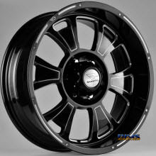 FK ETHOS WHEELS - ORC-909 - black flat w/ machined