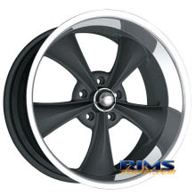 Ridler wheels - 695 - black flat w/ machined