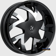 ROCK-N-STARR WHEELS - 962 STONES  - Black Flat