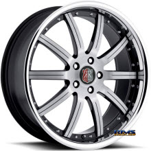 Roderick Luxury Wheels - RW3 - black w/ chrome lip