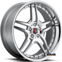 Roderick Luxury Wheels - RW2 - silver w/ chrome lip